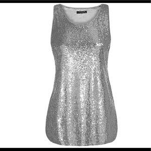 Tops - Women's plus size glitter sequin tank top 16